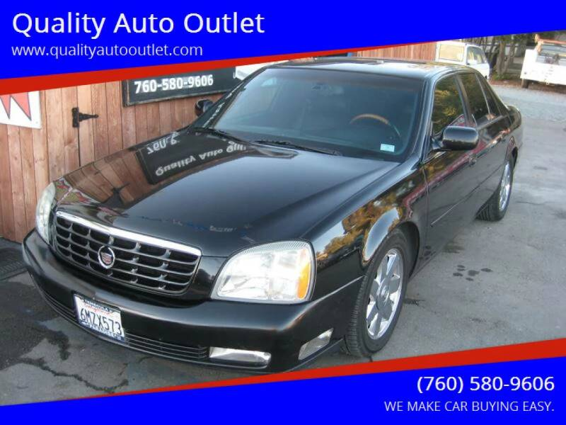 2004 Cadillac DeVille for sale at Quality Auto Outlet in Vista CA