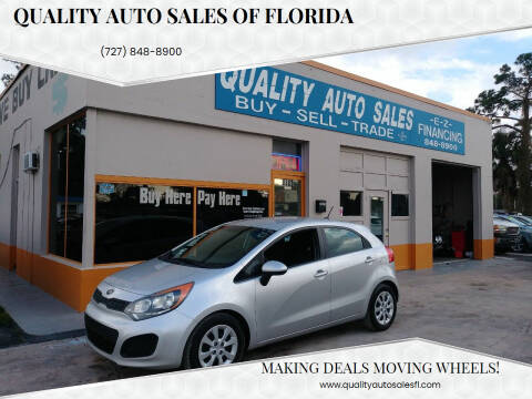 2012 Kia Rio 5-Door for sale at QUALITY AUTO SALES OF FLORIDA in New Port Richey FL