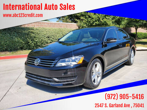 2015 Volkswagen Passat for sale at International Auto Sales in Garland TX