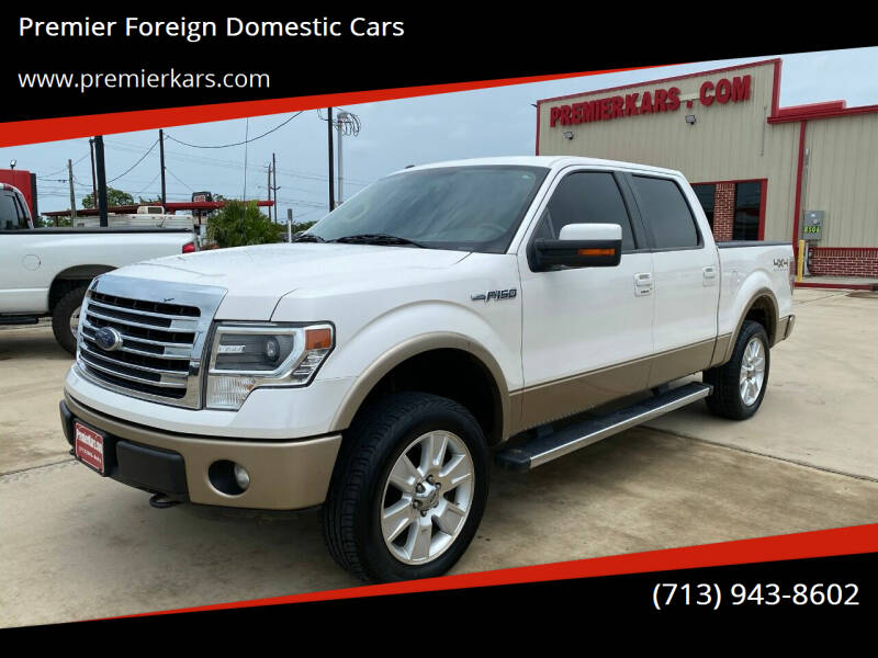 2013 Ford F-150 for sale at Premier Foreign Domestic Cars in Houston TX