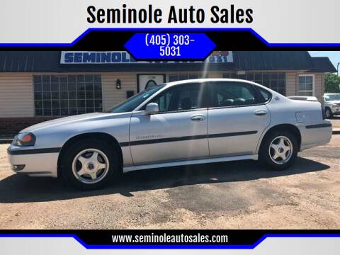 2002 Chevrolet Impala for sale at Seminole Auto Sales in Seminole OK