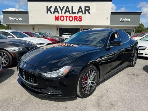 2014 Maserati Ghibli for sale at KAYALAR MOTORS in Houston TX