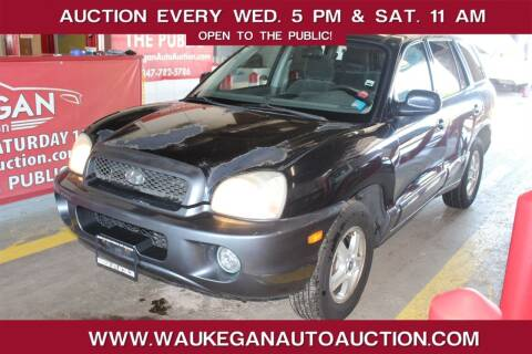 2004 Hyundai Santa Fe for sale at Waukegan Auto Auction in Waukegan IL