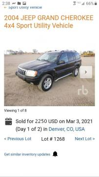 2004 Jeep Grand Cherokee for sale at Macks Auto Sales LLC in Arvada CO