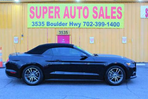 2017 Ford Mustang for sale at Super Auto Sales in Las Vegas NV