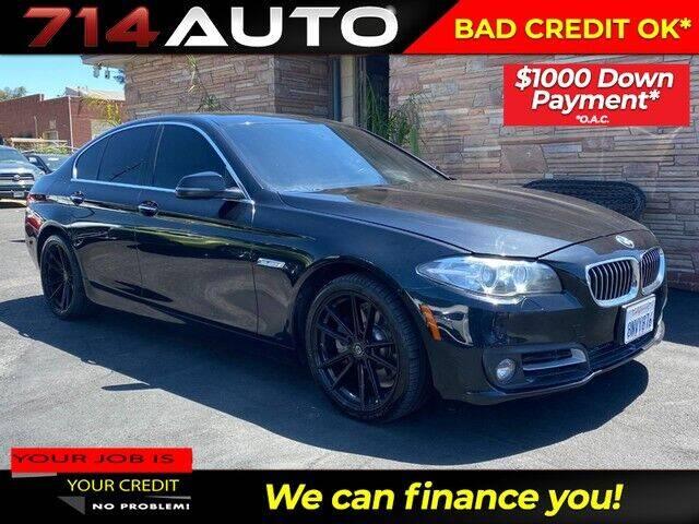 2016 BMW 5 Series for sale at 714 Auto in Orange CA