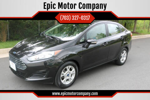 2015 Ford Fiesta for sale at Epic Motor Company in Chantilly VA