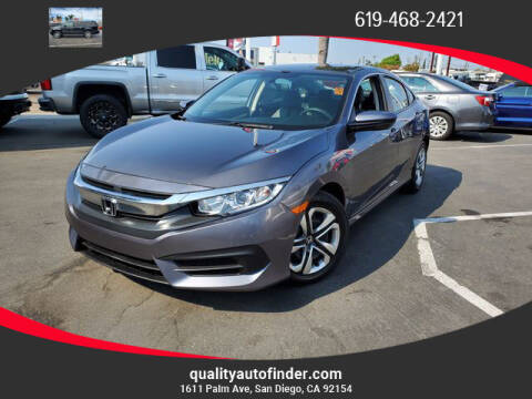 2017 Honda Civic for sale at QUALITY AUTO FINDER in San Diego CA