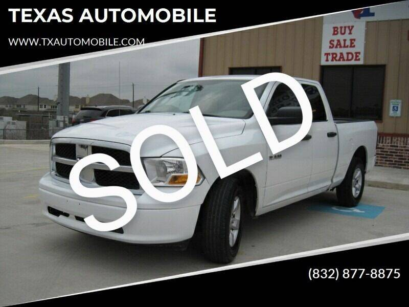 2010 Dodge Ram Pickup 1500 for sale at TEXAS AUTOMOBILE in Houston TX