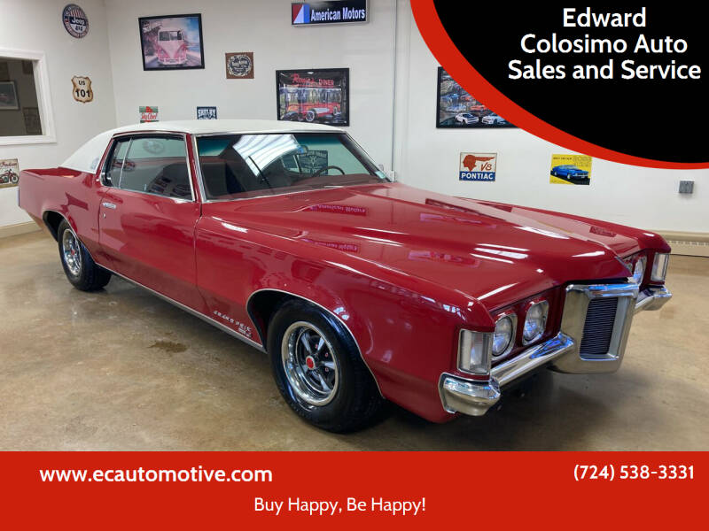 1969 Pontiac Grand Prix for sale at Edward Colosimo Auto Sales and Service in Evans City PA
