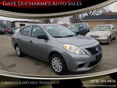 2013 Nissan Versa for sale at Dave Ducharme's Auto Sales in Lowell MA