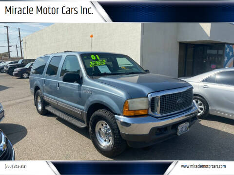 2001 Ford Excursion for sale at Miracle Motor Cars Inc. in Victorville CA