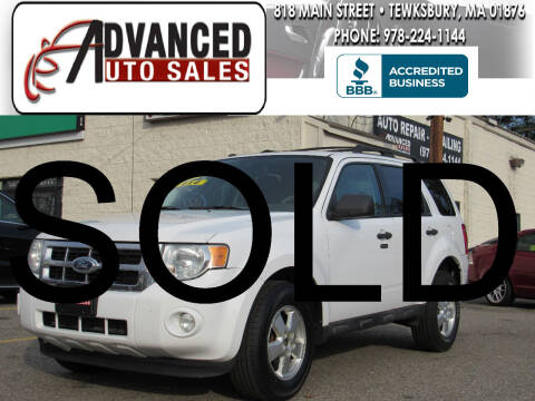 2010 Ford Escape for sale at Advanced Auto Sales in Tewksbury MA