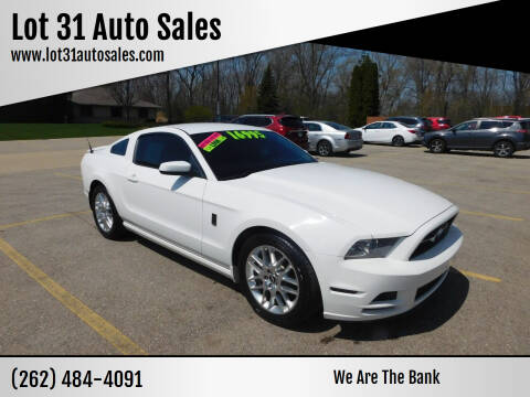 2013 Ford Mustang for sale at Lot 31 Auto Sales in Kenosha WI