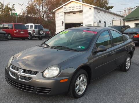 2003 Dodge Neon for sale at Bik's Auto Sales in Camp Hill PA