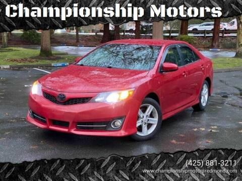 2013 Toyota Camry for sale at Mudarri Motorsports - Championship Motors in Redmond WA