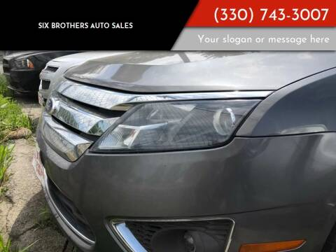 2011 Ford Fusion for sale at Six Brothers Auto Sales in Youngstown OH