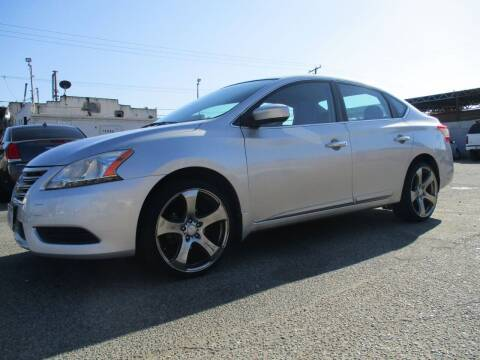 2014 Nissan Sentra for sale at E and M Auto Sales in Bloomington CA