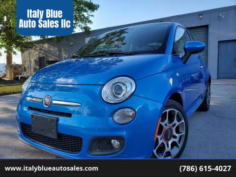 2015 FIAT 500 for sale at Italy Blue Auto Sales llc in Miami FL
