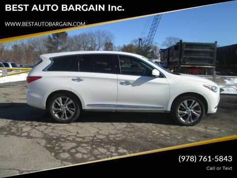 2013 Infiniti JX35 for sale at BEST AUTO BARGAIN inc. in Lowell MA