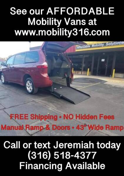 2020 Toyota Sienna for sale at Affordable Mobility Solutions, LLC - Mobility/Wheelchair Accessible Inventory-Wichita in Wichita KS