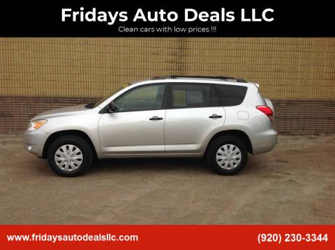 2006 Toyota RAV4 for sale at Fridays Auto Deals LLC in Oshkosh WI