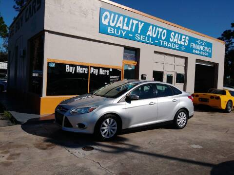 2013 Ford Focus for sale at QUALITY AUTO SALES OF FLORIDA in New Port Richey FL