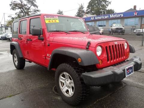 2007 Jeep Wrangler Unlimited for sale at All American Motors in Tacoma WA
