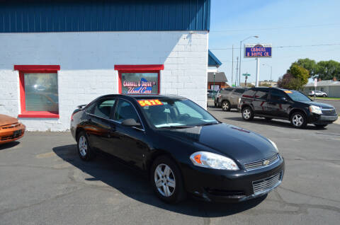 2008 Chevrolet Impala for sale at CARGILL U DRIVE USED CARS in Twin Falls ID