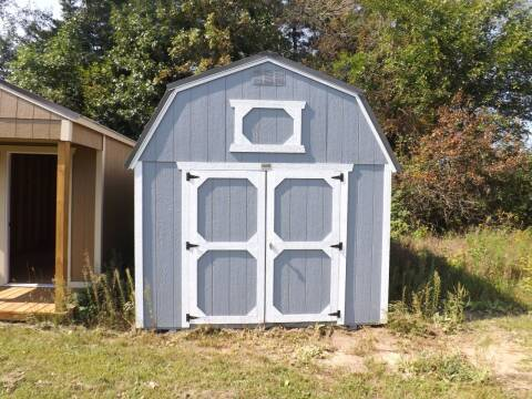 10 x 16 painted lofted barn for sale at Extra Sharp Autos in Montello WI