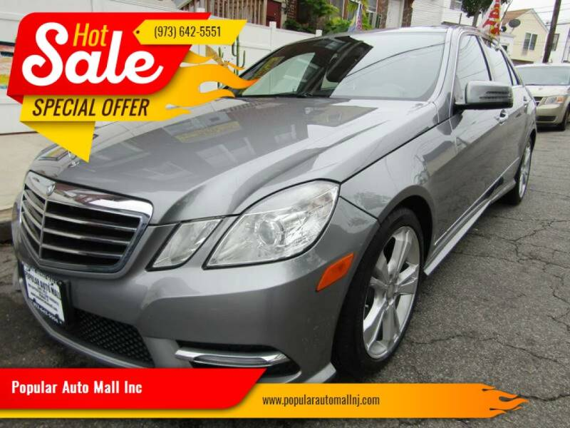 2013 Mercedes-Benz E-Class for sale at Popular Auto Mall Inc in Newark NJ