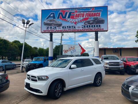 2017 Dodge Durango for sale at ANF AUTO FINANCE in Houston TX