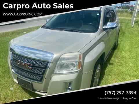 2013 GMC Terrain for sale at Carpro Auto Sales in Chesapeake VA