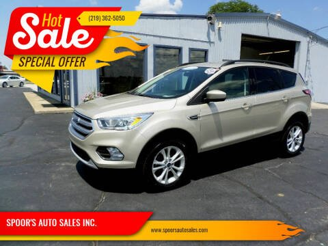 2017 Ford Escape for sale at SPOOR'S AUTO SALES INC. in La Porte IN