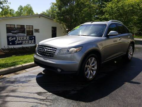 2004 Infiniti FX35 for sale at TR MOTORS in Gastonia NC