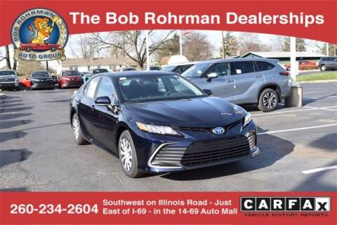 2021 Toyota Camry Hybrid for sale at BOB ROHRMAN FORT WAYNE TOYOTA in Fort Wayne IN