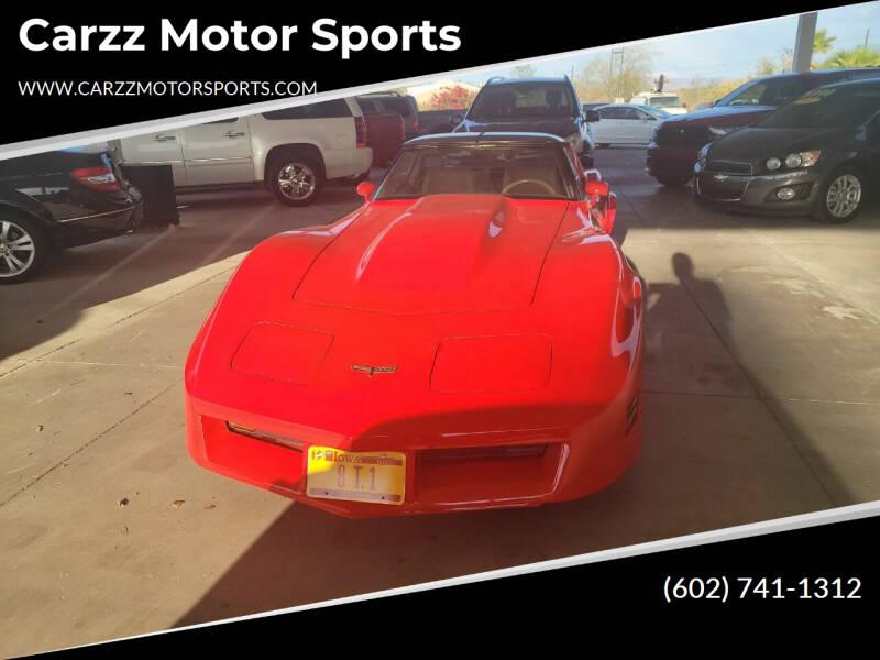 1981 Chevrolet Corvette for sale at Carzz Motor Sports in Fountain Hills AZ