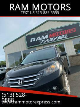 2013 Honda CR-V for sale at RAM MOTORS in Cincinnati OH