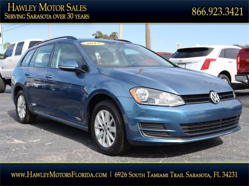 2015 Volkswagen Golf SportWagen for sale at Hawley Motor Sales in Sarasota FL