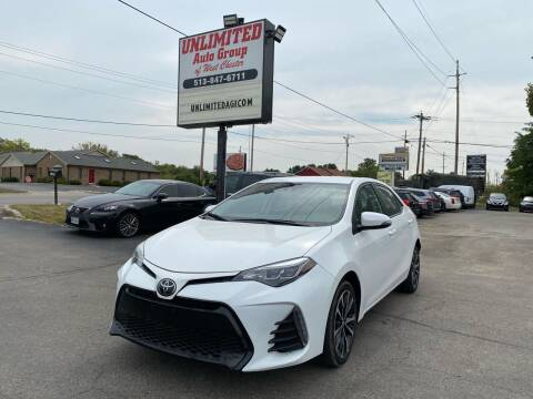 2019 Toyota Corolla for sale at Unlimited Auto Group in West Chester OH