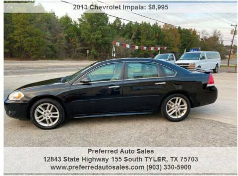 2013 Chevrolet Impala for sale at Preferred Auto Sales in Tyler TX