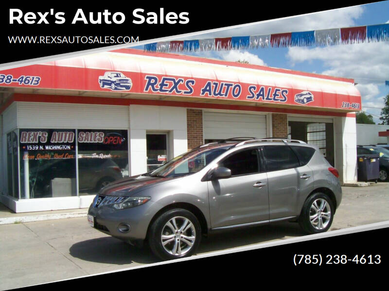 2009 Nissan Murano for sale at Rex's Auto Sales in Junction City KS