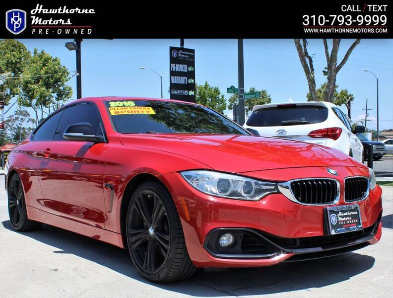 2015 BMW 4 Series for sale at Hawthorne Motors Pre-Owned in Lawndale CA