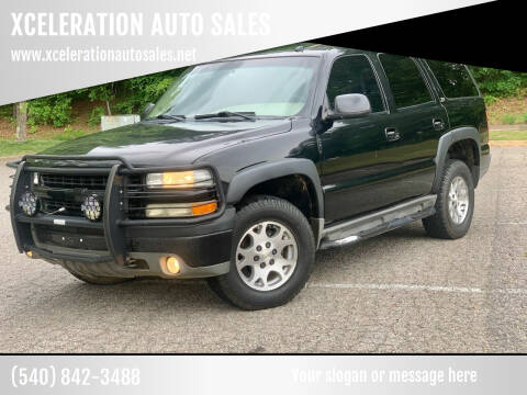 2003 Chevrolet Tahoe for sale at XCELERATION AUTO SALES in Chester VA