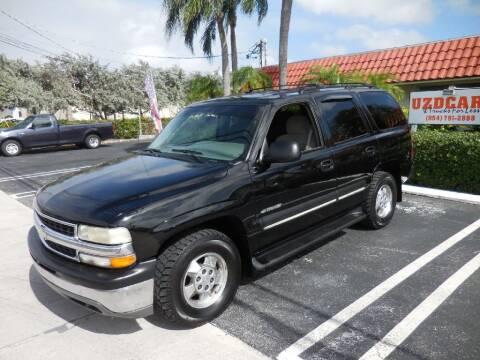2002 Chevrolet Tahoe for sale at Uzdcarz Inc. in Pompano Beach FL