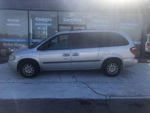 2002 Dodge Grand Caravan for sale at Georgia Certified Motors in Stockbridge GA