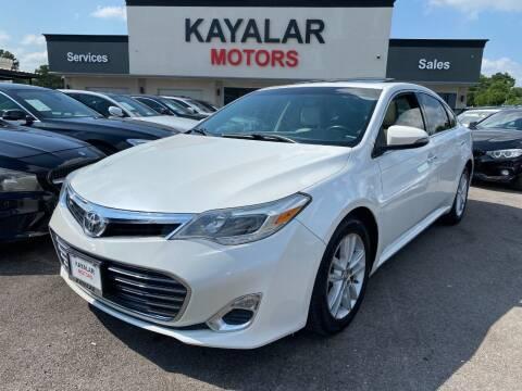 2013 Toyota Avalon for sale at KAYALAR MOTORS in Houston TX