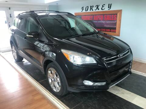 2013 Ford Escape for sale at Forkey Auto & Trailer Sales in La Fargeville NY