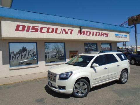 2014 GMC Acadia for sale at Discount Motors in Pueblo CO