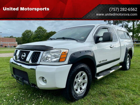 2007 Nissan Titan for sale at United Motorsports in Virginia Beach VA